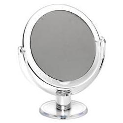 sminkspegel med förstoring stående på fot